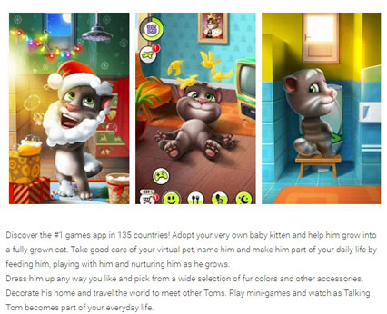 Most entertaining apps - My Talking Tom