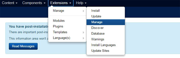Uninstall Joomla extensions - 1