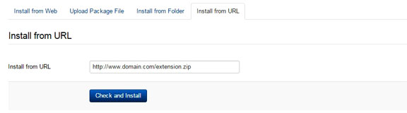How to install Joomla extensions - Install from URL