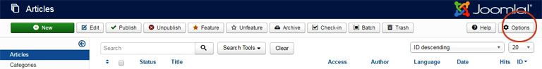 Remove article ID from URL in Joomla - Article options