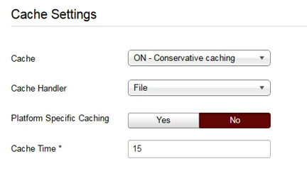 Enable cache in Joomla