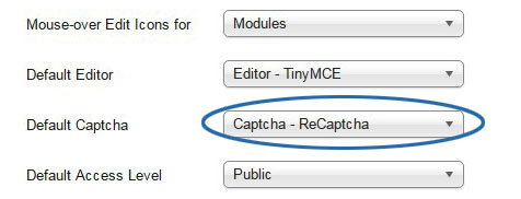 Add Recaptcha to Joomla - 7
