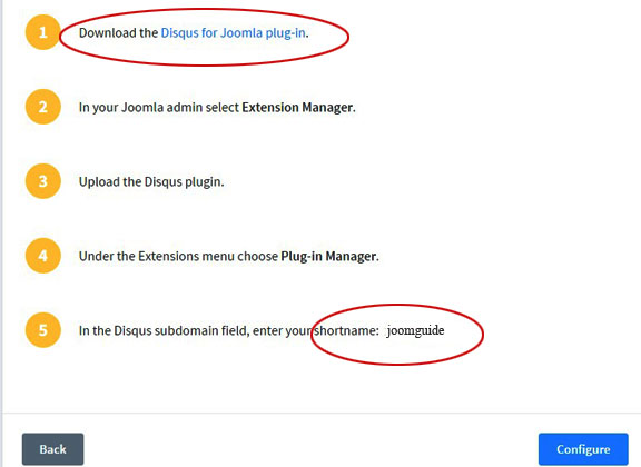 Add Disqus to Joomla 4