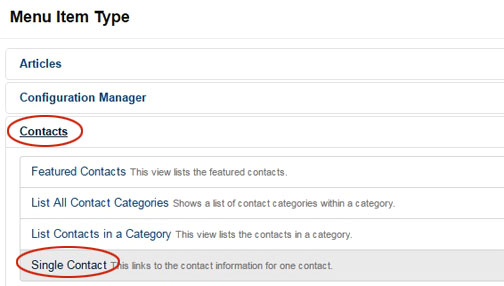 Create contact forms in Jooma 3