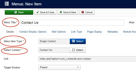 Create contact forms in Joomla 4