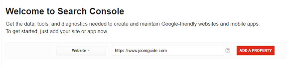 Joomla XML Sitemap - Add website to Search Console