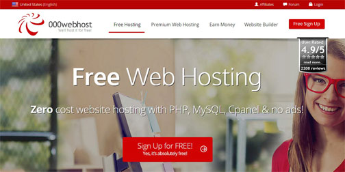 Best Free Website Hosting - 000Webhost