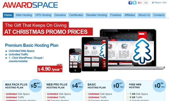 Best free Website Hosting - Awardspace