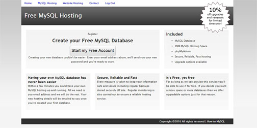 Free MySQL hosting with remote access