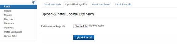 Install a Joomla template - Upload Template