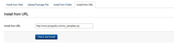 How to install Joomla template - Install from URL