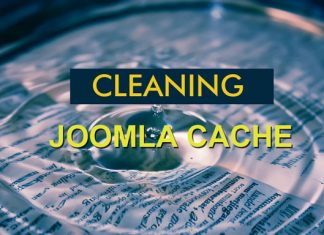 Clear the cache in Joomla