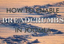 Enable breadcrumbs in Joomla