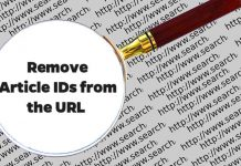 Remove article id from the URL in Joomla