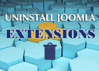 Uninstall Joomla extensions