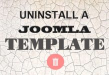 Uninstall Joomla templates