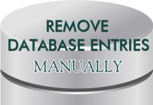 Remove database entries manually