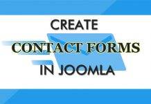 Create contact forms in Joomla