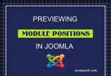 Preview module positions