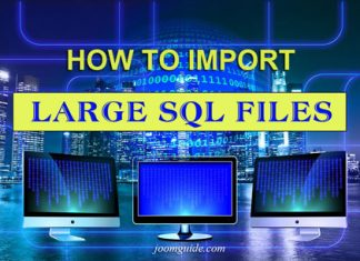 Import large SQL files - Joomguide
