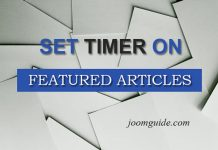Set time period for featured articles in Joomla
