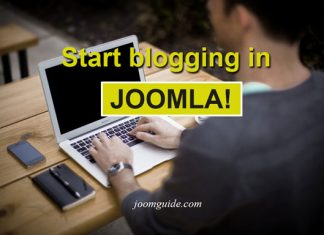 Create a blog in Joomla - Joomguide